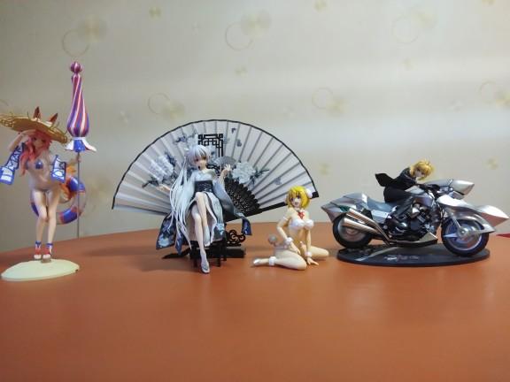 Fate/EXTRA Moto Saber Anime Garage Kits Dolls Figure Statue-Garage Kit Dolls