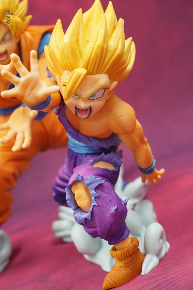 DRAGON BALL Son Gokū & Sun Gōhan Father son wave statue collectibles-Garage Kit Dolls