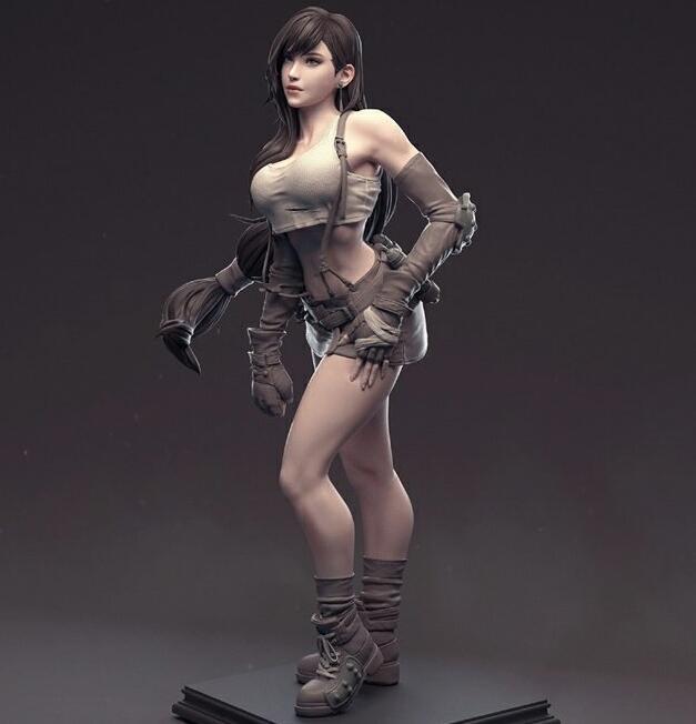 Final Fantasy VII Tifa Unpainted Garage Resin Model Kit-Garage Kit Dolls